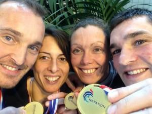 Championnats de France Masters 2016:  2 titres, 1 record et 10 médailles!!