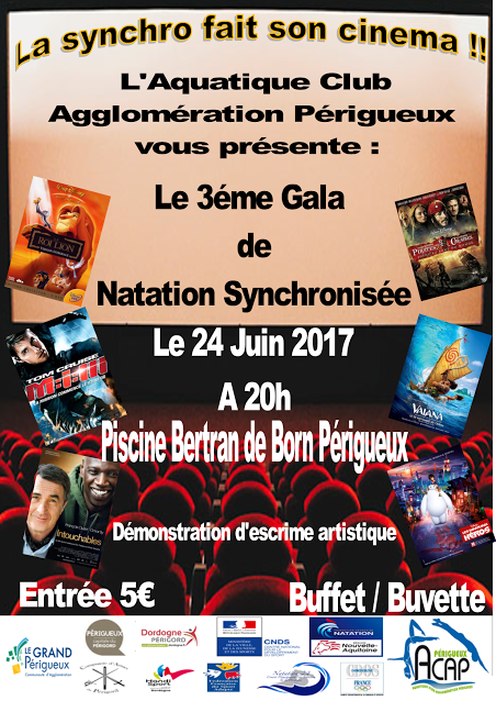 Prochain Gala de Synchro le 24 juin 2017