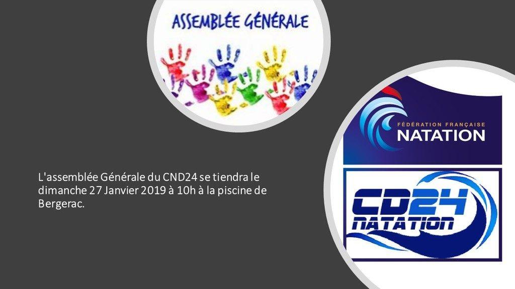 AG du comité départemental de natation 24 : vous êtes tous invités!