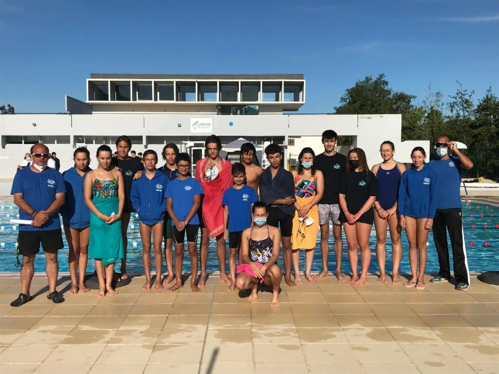Retour à la compétition réussi pour les nageurs de l'AC Agglomération Périgueux!